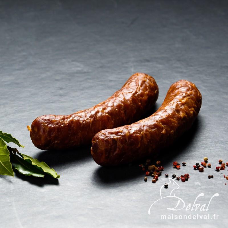Maison Delval - Saucisse à cuire pur porc Couteau