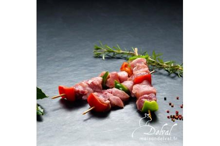 Maison Delval - Brochette de porc Bleu Blanc Cœur