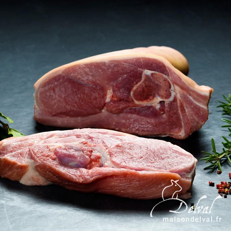 Maison Delval - Rôti d'épaule de porc Bleu Blanc Cœur avec os