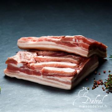 Maison Delval - Poitrine de porc Bleu Blanc Cœur