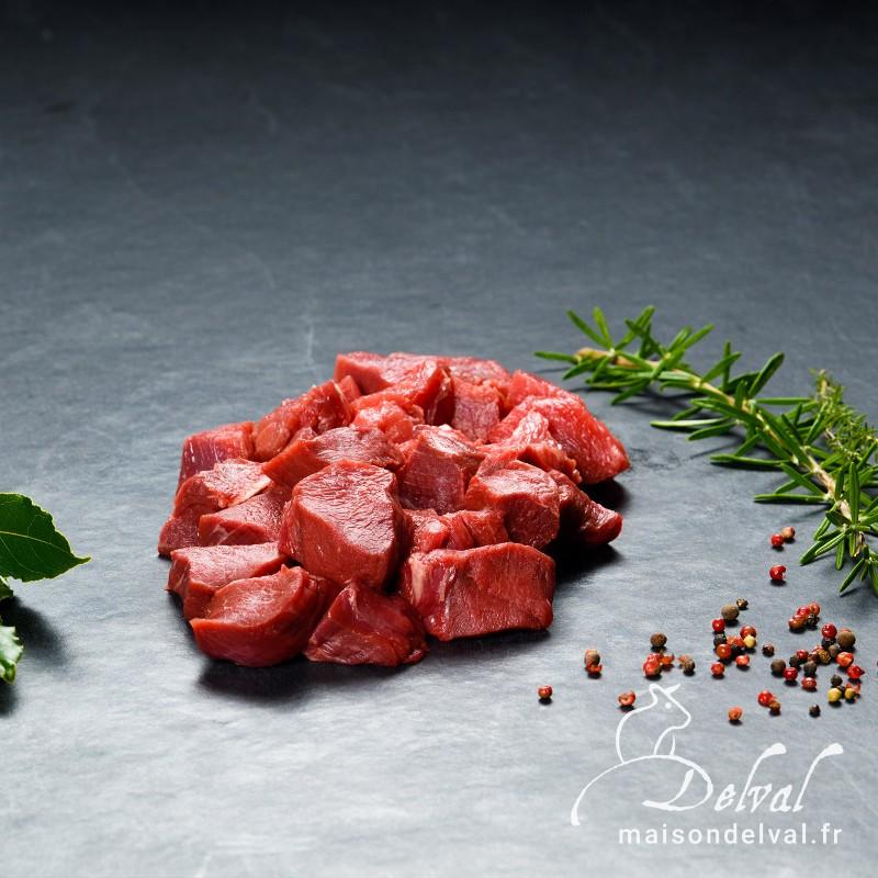 Maison Delval - Viande de bœuf à fondue Sélection Delval / Rumsteck - Poire - Merlan