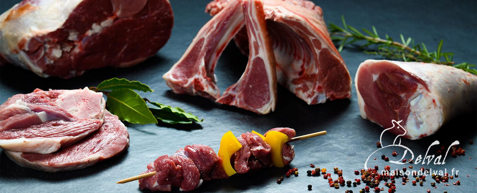 Viande d'agneau de qualité - Vente en ligne - Boucherie Maison Delval