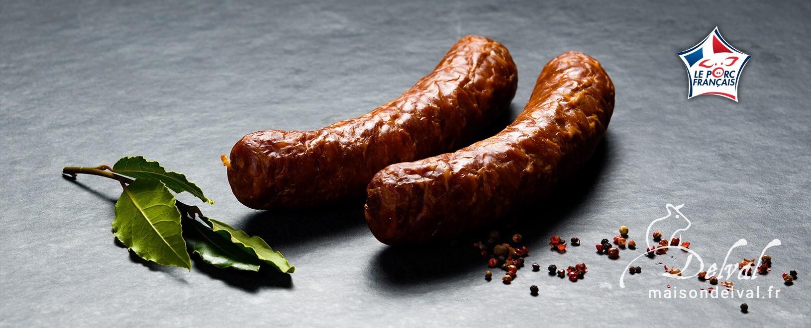 Saucisses de qualité - Vente en ligne - Charcuterie Maison Delval